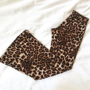 Pants - Leopard Print Bell Bottoms